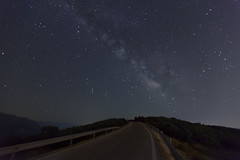 Road to nowhere (ChrisBrn) Tags: road night stars sagittarius scorpio galaxy constellations meteor delphinus milkyway aquila altair antares ophiuchus shaula sabik nunki coronaaustralis Astrometrydotnet:status=solved kausaustralis dschubba kausmedia Astrometrydotnet:version=14400 ic4592 girtab Astrometrydotnet:id=alpha20120765989340 girtabsargas