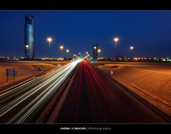 A New Developing Part (Bakar_88) Tags: city longexposure urban photography lights flickr dusk towers nikkor riyadh saudiarabia widelens  nikond90 kingfahadroad alqassimroad andrewashenouda