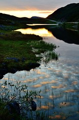 Finnvikvannet (John A.Hemmingsen) Tags: sunset sky sun reflection nature water colors clouds landscape nordnorge troms nikkor1685dx nikond7000