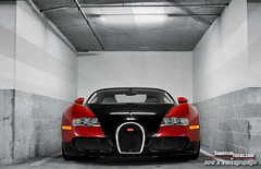 The Bugatti Veyron. A 16-Cylinder, Quad-Turbo Monster Trapped Underground Between Four Walls (SupercarFocus.com) Tags: 164 bugatti veyron