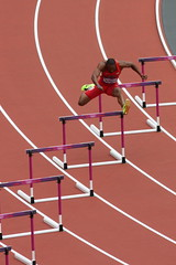 Angelo Taylor in the 400m hurdles at the London 2012 Olympics (Mary Gregory) Tags: usa athletics taylor angelo olympics olympicstadium hurdles london2012 400mhurdles