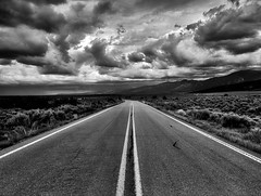 The road goes on forever (Jim Nix / Nomadic Pursuits) Tags: colorefexpro jimnix nm newmexico niksoftware nomadicpursuits olympus redriver sangredecristo clouds mountains photography road sky storm summer travel