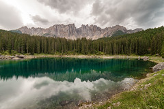 Pure reflections (Luca Matassoni) Tags: landscape landscapes mountains mountain mount horizon clouds cloud cloudy cloudporn sky skyporn bluesky clearsky sun sunny flares rays travel travelling traveler traveller wandering wanderlust freedom free wild wildlife wildandnature nature hiking trekking explore exploring photography photograph landscapephotography naturephotography canon canon5d samyang samyang14mm trentino italy lake carezza lakecarezza
