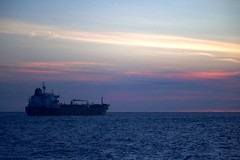 Oil Tanker (C-V-W) Tags: container ship ferry ferryboat bluehour blue hour sunset horizon sea sky oil tanker