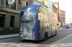 LT98, Kensington Mall, London, 23/04/16 (aecregent) Tags: londonbuses2016 london 230416 kensingtonmall comfortdelgro newroutemaster newbusforlondon borismaster nbfl nb4l hybrid wright lt metroline lt98 ltz1098 390 tommyhilfiger rear