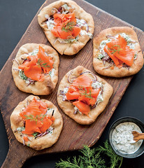 Smoked Salmon & Red Onion Pizzettes! (South Granville) Tags: southgranville vancouver bestshoppingvancouver vancouverbestshopping gourmet neighbourhood pizza recipes williamssonoma