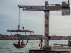 Venice, June 2016 (cjcrosland) Tags: giudecca giudeccacanal venice crane holiday rowingboat