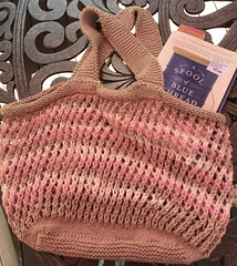 Everlasting Bag & Book (Pink Knitter) Tags: bag knitty cotton