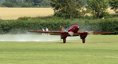 G-ACSS De Havilland DH.88 Comet Racer (David Russell UK) Tags: gacss de havilland dehavilland dh88 comet racer grosvenor house shuttleworth trust collection old warden aerodrome air display 2016 england take off taking aircrfat aeroplane airplane plane vehicle flying machine