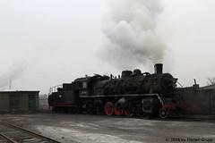 I_B_IMG_8214 (florian_grupp) Tags: asia china steam train railway railroad bayin lanzhou gansu desert landscape loess mountains sy ore mine 282 mikado steamlocomotive locomotive