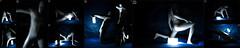 Lamp (llbdevu) Tags: lamp light dark blue black shiny tight boy skinsuit white silver lycra spandex zentai catsuit bodysuit costume posing contrast