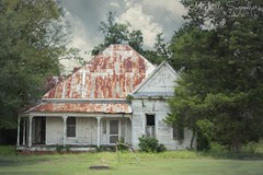 (SouthernHippie) Tags: rural ruin rurex rust red white blue bluesky beautiful blackbelt alabama abandoned al abandonment americana architecture forgotten farm farmhouse flickr trees tree country countryside house history historic home serene decay windows scenic woods outside morning