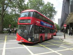 LT116, Euston, London, 28/06/16 (aecregent) Tags: londonbuses2016 euston london 280616 metroline comfortdelgro newroutemaster newbusforlondon borismaster nbfl nb4l hybrid wright lt lt116 ltz1116 390