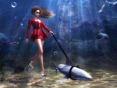 Artis - My shark pet (Tamara Artis) Tags: groupgift promo freebie underwater shark marine blue red ison avatar sl secondlife