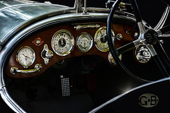 1924 Bentley Racer - EXPLORED (Goromo) Tags: bentley racer 1924 1924bentleytouristtrophyracer car classic dashboard steeringwheel gauges dials genevaconcours2016