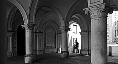 Spotted (KenHensley) Tags: bw blackandwhite blackwhite pillars pillar bow italy trieste friuli