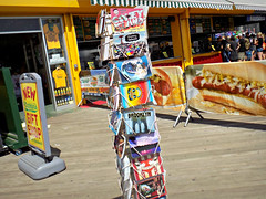 Postcards from Coney Island (Robert S. Photography) Tags: boardwalk coneyisland shop gift postcards sign stand nathans hotdogs summer brooklyn newyork nikon coolpix l340 iso80 september 2016
