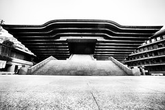 #darthvaderarchitecture Shakaden Reiyukai Temple, Tokyo (jev) Tags: leicam9 trielmar161821mm bw buddhism minatoward shakadenreiyukaitemple wate angle architecture blackandwhite building darthvaderarchitecture family futuristic human humanbeing humanbeings humans japan monochrome people person religion symmetrical temple tokyo wide