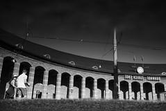 Bahnhof Zrich Enge (maekke) Tags: zrich puddlegram reflection bw noiretblanc urban architecture sbb zvv bahnhof pointofview pov woman man streetphotography 2016 ch switzerland enge kreis2 x100t fujifilm