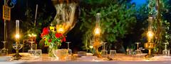 La Petite Tanire (Jean-Jacques Mattei) Tags: petitetaniere tabledhotes portovecchio corse table soir lampe repas
