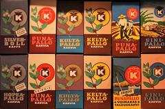 IMG_1784 (www.ilkkajukarainen.fi) Tags: coffee beans finland advertisement moka mocha mokka paahto paketti vintage nostalgia retro k kesko ephemera fresh colour kahvi pakkaus kahvia kaffe talous puna pallo columbia kelta sini ad reklam stuff museumstuff love