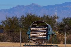 Derelict rocket body section - Titan Missile Museum, Sahuarita, Arizona. (edk7) Tags: olympuspenliteepl5 edk7 2013 usa arizona sahuarita arizonaaerospacefoundation titanmissilemuseum unitedstatesairforce usairforce usaf airforcefacilitymissilesite8 titaniiicbmsite5717 complex5717 active196382 nationalhistoriclandmark abandoned missile rocket component old crusty derelict