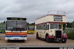 501 (32501) and 19992 (northwest85) Tags: southdown stagecoach south stripes old livery j501 gcd 501 32501 alexander dash dennis dart devon general west lrv 992 19992 leyland titan pd2 1956 hop oast horesham bus rally 2016 j501gcd lrv992