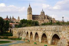 Puente Romano de Salamanca (lagunadani) Tags: puente paisaje salamanca catedral rio tormes sonya7 ciudad puenteromano puentemayordeltormes