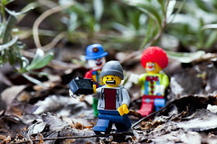 Terrified (Rakkiib) Tags: lego clown clowns terrified