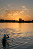 Late night dip (Russell Discombe) Tags: swimmer swimming water lake sunset evening late sky blue goldenhour cold gloucestershire south cerney southcerney nikon d3300 sigma18250 sigma cotswolds waterpark