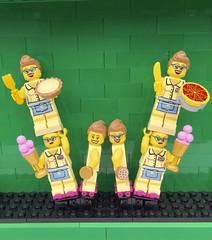 W (Laurene J.) Tags: lego bricksbythebay bbtb2016 minifigurealphabet minifigure minifigs legoalphabet alphabet pilobolusalphabet pilobolus lettering bbtb 2016 bricksofcharacter w waitress women