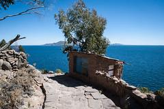 Lake Titicaca (atsubor) Tags: peru puno titicaca taquile island road lake