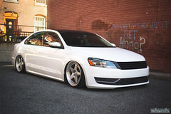 DSC_1784b (missamagnificent) Tags: wheel lab wheellab airlift lifeonair air lift bagged slammed passat candy white lowered canibeat stancenation stanceworks vermont new england woods forest outside outdoors two piece wheels auto automotive automobile stance stanced car vehicle outdoor