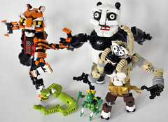 PoAndTheFuriousFour (madLEGOman) Tags: mantis jack for monkey panda lego crane 5 five finger no or kitty master po ms kung fu wushu viper charge hold tigress furious awesomeness moc attractiveness mckeen madlegoman madlegoman13