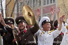 Happy soldiers (James Gourley Photography) Tags: army us war asia unitedstates communism kimjongil celebrations seoul 100 southkorea dmz northkorea pyongyang centenary prk republicofkorea juche kimilsung democraticpeoplesrepublicofkorea leemyungbak kimjongun