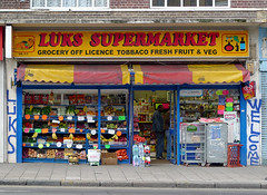 Luks Supermarket, Dalston Lane E8 (Emily Webber) Tags: london shops hackney e8 dalstonlane shopfronts londnshopfronts