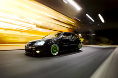 Late Night Cruise (Ronaldo.S) Tags: motion green vw work movement nikon air automotive rig gti f28 rolling slammed 2035mm meisters d700
