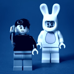 19/52: LEGO Donnie Darko (pong0814) Tags: 2001 blue canada macro rabbit bunny film closeup photoshop canon dark movie square frank photography eos winnipeg flash may manitoba indoors scifi teenager nik sciencefiction dslr weekly donniedarko jakegyllenhaal 2012 giantrabbit ef100mmf28macrousm richardkelly giantbunny jenamalone colorefexpro legozombie project52 430exii colorstylizer 5dii legofaces legodonniedarko