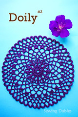 Doily & Mat Series: Doily #3 (Sewing Daisies) Tags: japanese pattern handmade crochet doily tablemat