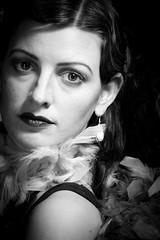 Roaring Twenties - 36 (~shrewd~) Tags: 1920s ladies girls portrait bw white black lady female germany studio deutschland see no menschen sw weiss fkk schwarz damen speak 1920 hear 20s frauen sprechen nichts weiblich sehen 20er hren zwanziger flickrklubkarlsruhe canoneos40d 1920er lightgiants