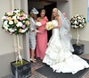 Karen Byrne and bridesmaids The wedding of Irish footballer Glenn Whelan to Karen Byrne held at St. Philomena's Church in Palmerstown Dublin, Ireland