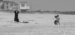 Being Photographed (Catskills Photography) Tags: blackandwhite beach candid capemay top20blackandwhite canon55250mmislens