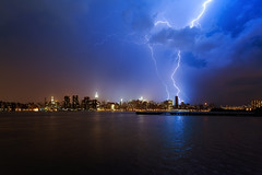 New York City Lightning on May 29, 2012 (mudpig) Tags: nyc newyorkcity longexposure ny newyork storm reflection rain skyline brooklyn night geotagged nikon cityscape manhattan longisland queens un esb unitednations eastriver tormenta empirestatebuilding thunderstorm gothamist lightning trumptower chryslerbuilding greenpoint fdrdrive f28 thunder fdr littlepoland citicorpbuilding onepennplaza mudpig stevekelley d3s 1424mm stevenkelley