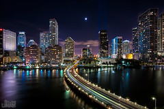 Miami (Eddie 11uisma) Tags: city urban 3 skyline night canon landscape photography long exposure cityscape miami mark l 5d 1740mm f4