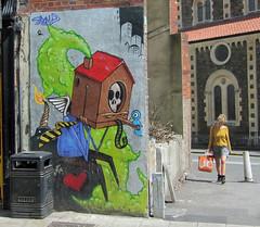 3Dom (cocabeenslinky) Tags: street city uk blue england urban streetart bird art canon bristol skull graffiti artist grafitti power shot photos box graf united kingdom powershot bluebird graff hs 2012 artiste bs1 3dom sx220 cocabeenslinky cocabeenslinky