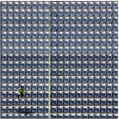 The photographer's loneliness (D 13) (Nespyxel) Tags: woman square alone loneliness photographer pov stadium perspective pointofview solo seats pixel reserved quadrato stadio geometrie solitudine geometries d13 seggiolini shottheshooter nespyxel stefanoscarselli