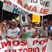 Concentración contra el cierre de urgencias en los pueblos. Asamblea de Extremadura