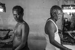 Colleagues @ a powerloom (Chendur) Tags: india industry scale rural small micro workplace medium weavers tamil tamilnadu industries ngo socialdocumentary handloom ruralindia livelyhood chendur chendurphotography chendurvenkatraman chendurvenkataramanphotography chendurvenkatramanphotography