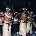 Kiribati Mwaie (dancing), Visiting troup, Christmas Island, Kiribati, Jan 2000