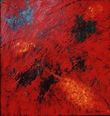 GA29536 | Il giardino rosso (GIGARTE.com) Tags: 2001 arti astratto francesco olio tavola internazionale archivio pittura pittore artecontemporanea contemporanee fiorido gigarte portalearte francescofiorido ga29536